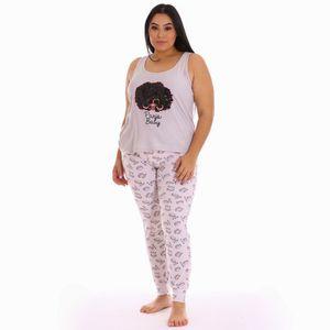 Conjunto de Pijama Pantalón Sleep Junkie Para Dama Talla Grande