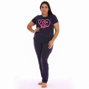 Conjunto de Pijama Pantalón Morena Rosa Para Dama Talla Grande