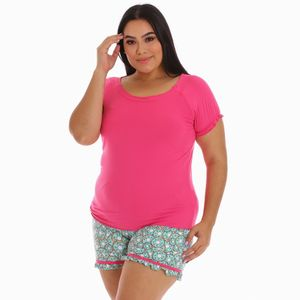 Conjunto de Pijama Short Project Runway Para Dama Talla Grande