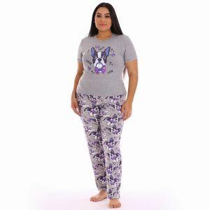 Conjunto de Pijama Pantalón Project Runway Para Dama Talla Grande