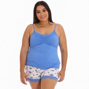 Conjunto de Pijama Short Zawary Para Dama Talla Grande