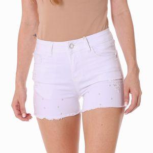 Short Jean Mebon Para Dama Blanco