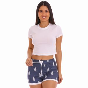 Conjunto de Pijama Short Morena Rosa Para Dama