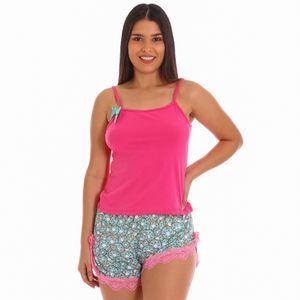 Conjunto de Pijama Short Zawary Para Dama