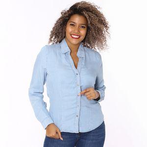 Camisa Jean Manga Larga Blvd Para Dama