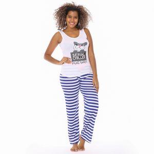 Conjunto de Pijama Pantalón de Algodón Emme Jordan Para Dama