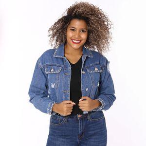 Jacket Jean Blvd Para Dama