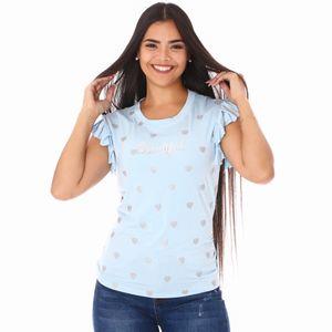 Sweater Manga Corta Cocoa Blue Para Dama