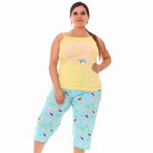 Pijama Emme Jordan Conjunto Capri de Algodón Talla Grande