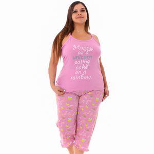 Conjunto de Pijama Capri Emme Jordan Para Dama Talla Grande