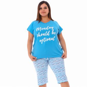 Conjunto de Pijama Short Emme Jordan Para Dama Talla Grande