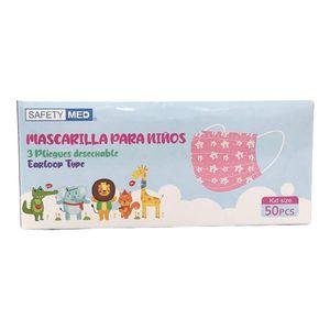Mascarilla Desechable Infantil 3 Pliegues 50 Piezas - Surtido