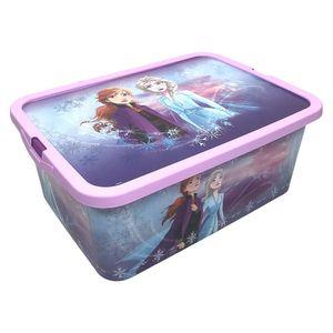 Caja Multiuso Frozen Con Tapa de 13 Lt